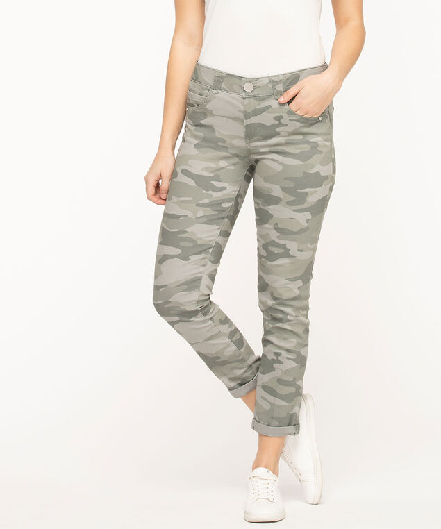 """Democracy """"Ab""""solution Camo Ankle Skimmer, Olive Camo"""