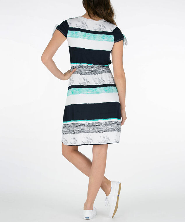 ddd3470c24 Striped Cold Shoulder Sundress