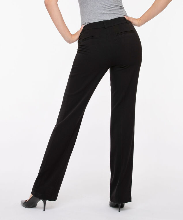 Tri-Blend Fly Front Trouser, Black, hi-res
