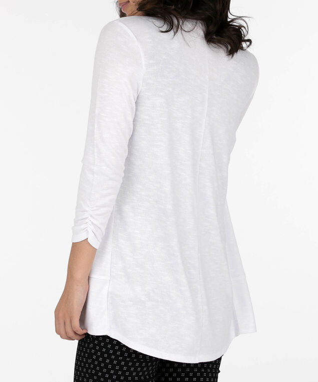 Shawl Collar Cardigan, True White, hi-res