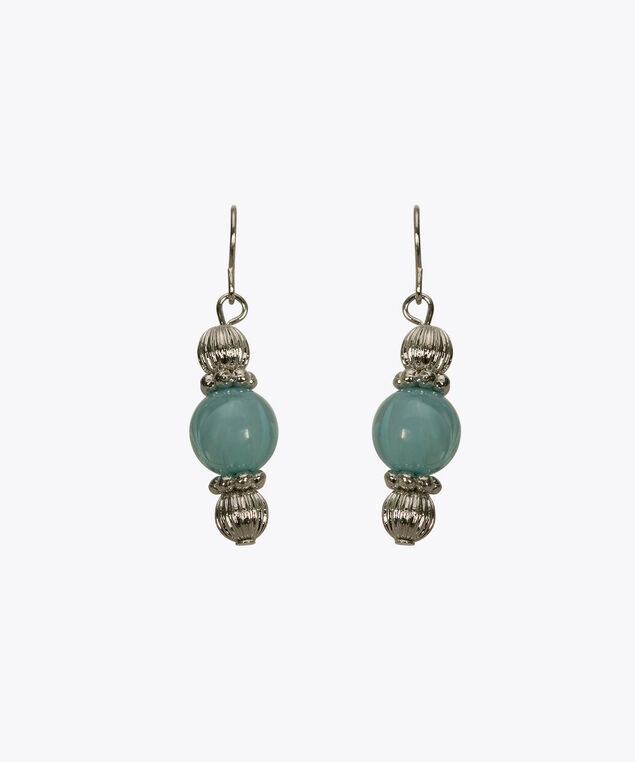 Sky Blue Marbled Bead Earring, Sky Blue, hi-res