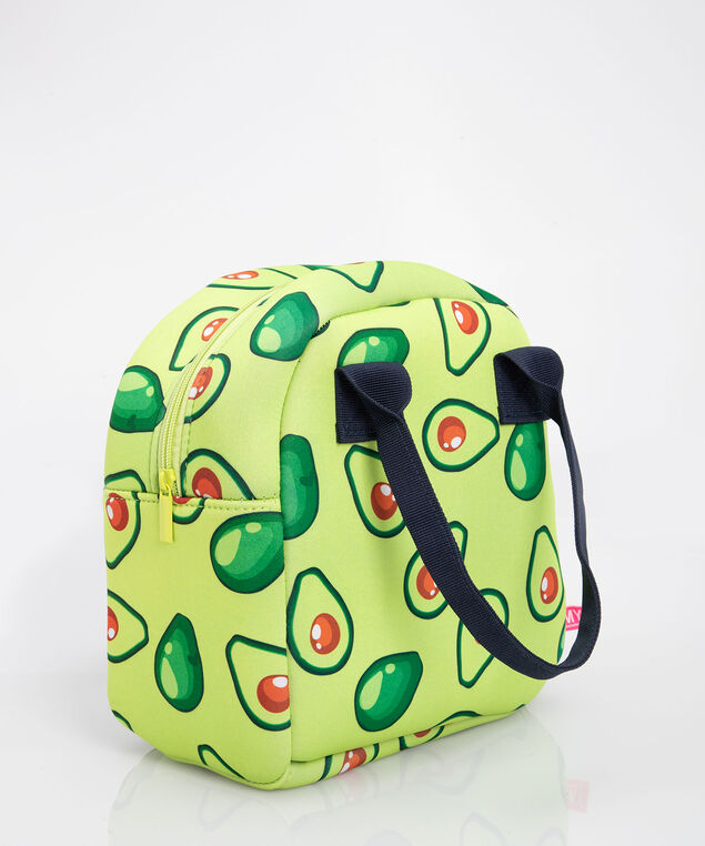 Avocado Print Lunch Tote, Green, hi-res