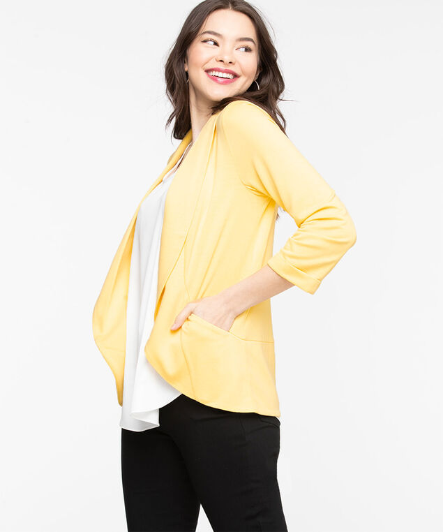 Terry Shawl Collar Cover Up, Popcorn