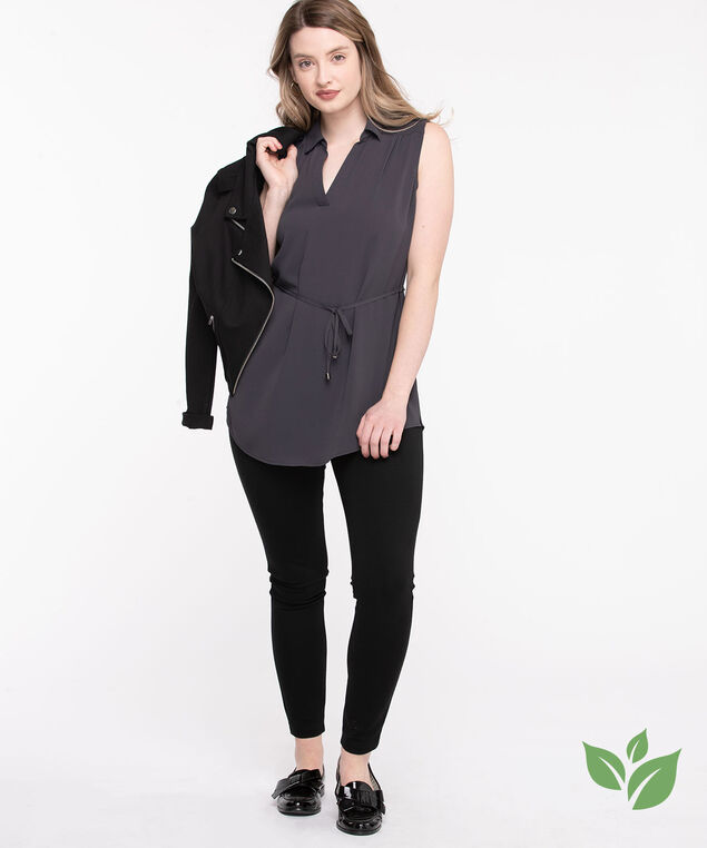 Eco-Friendly Sleeveless Tunic Blouse, India Ink