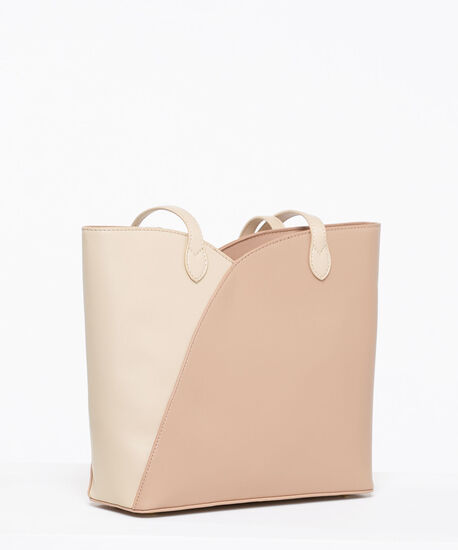 Tulip Colour Block Tote Bag, Blush/Sand, hi-res