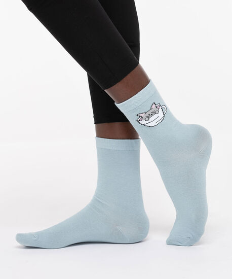 Cat in a Mug Socks, Light Blue/Pearl/Grey, hi-res