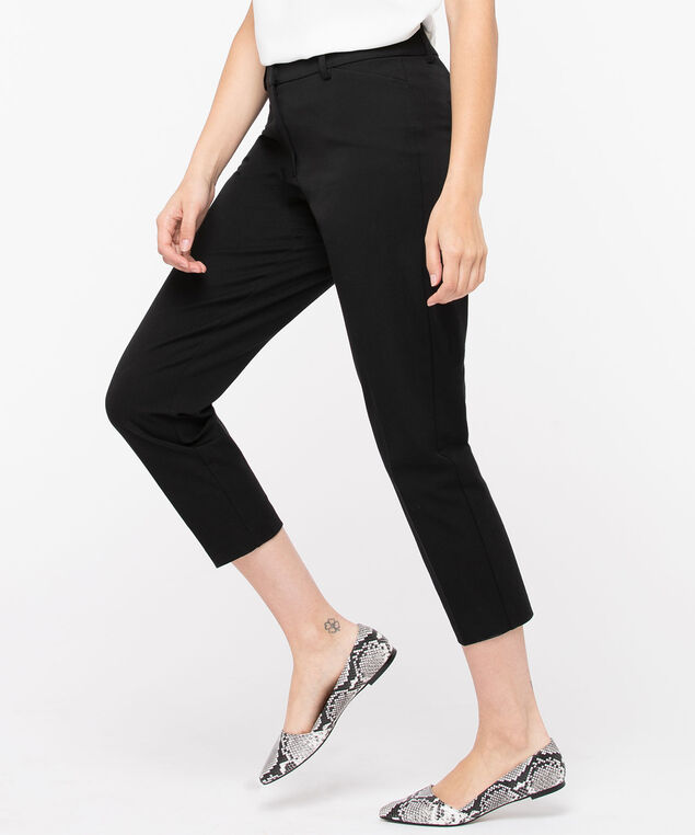 High Rise Slim Ankle Pant, Black