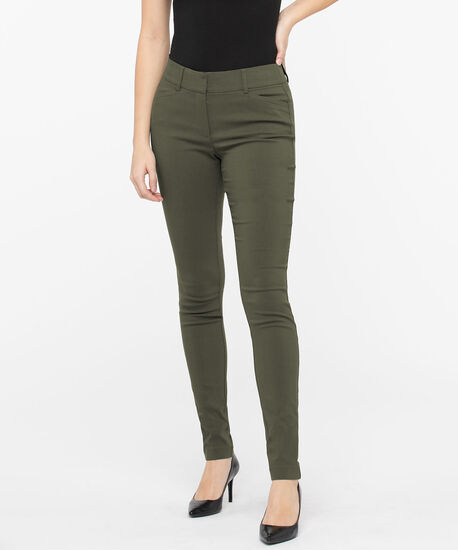 Microtwill Fly Front Super Slim, Basil, hi-res