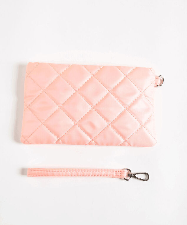 Quilted Everyday Essential Pouch, Soft Pink