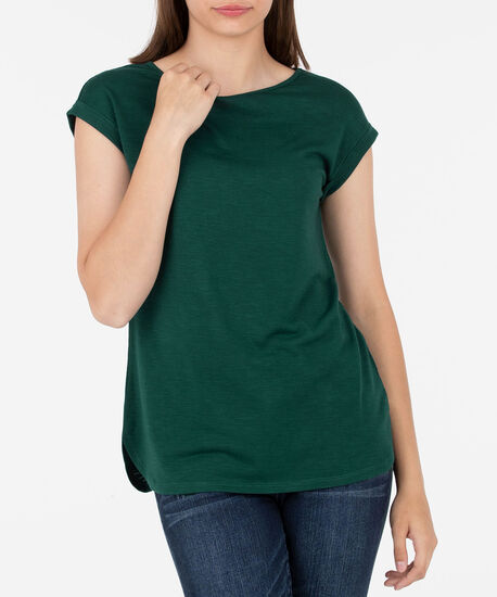Roll Cuff Extended Sleeve Top, Ivy, hi-res