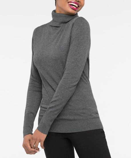 Long Sleeve Turtleneck Sweater, Mid Heather Grey, hi-res