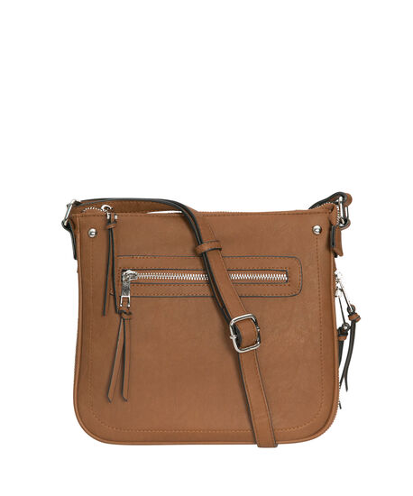 Cognac Expanding Cross-Body Bag, Cognac/Nickel, hi-res