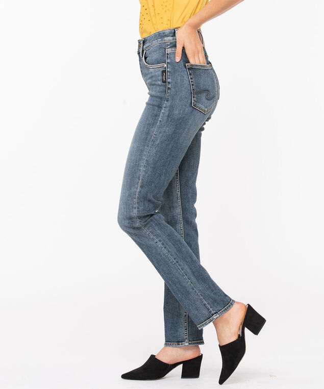 Silver Jeans Co. Avery High Rise Straight Leg, Mid Wash