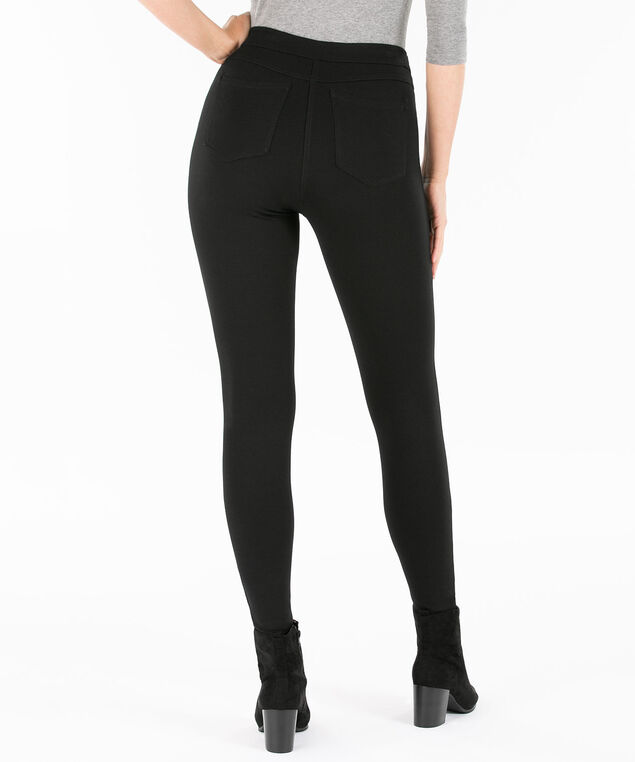 Luxe Ponte 5-Pocket Legging, Black, hi-res