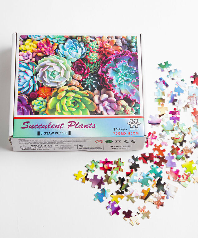 Succulent Jigsaw Puzzle, Assorted
