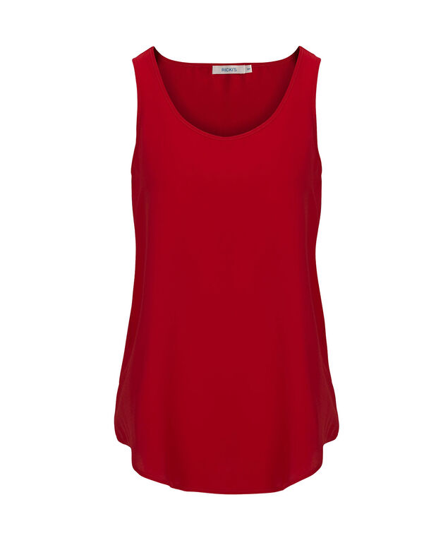 Woven Layering Cami, Cherry, hi-res