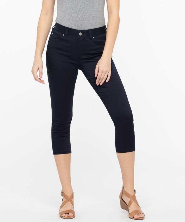 Fly Front Jegging Capri, Summer Navy, hi-res