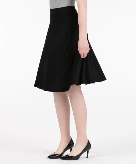 Crepe A-Line Skirt, Black, hi-res