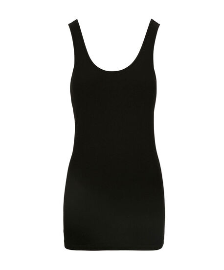 Tunic Length Cami, Black, hi-res
