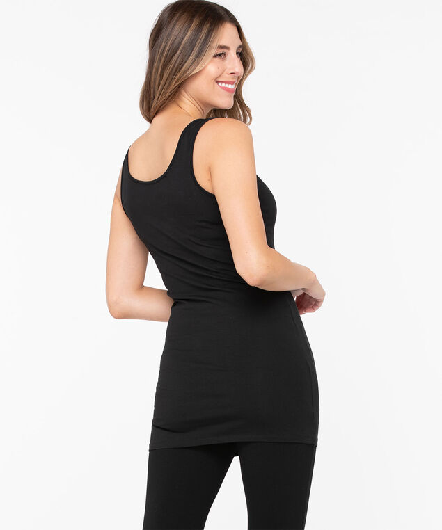 Longer Length Tunic Cami, Black