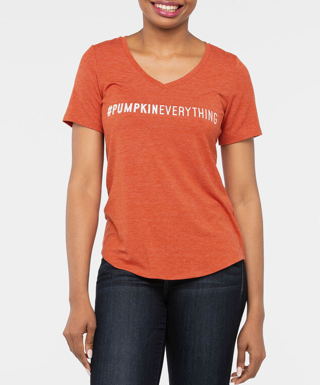 Everything Pumpkin Graphic Tee, Pumpkin, hi-res