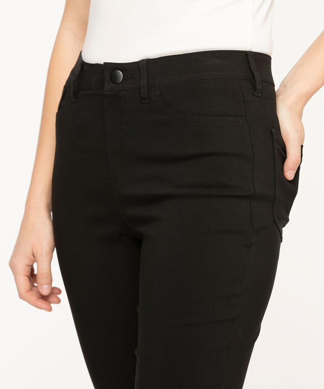 Black Microtwill 5-Pocket Skinny Leg, Black