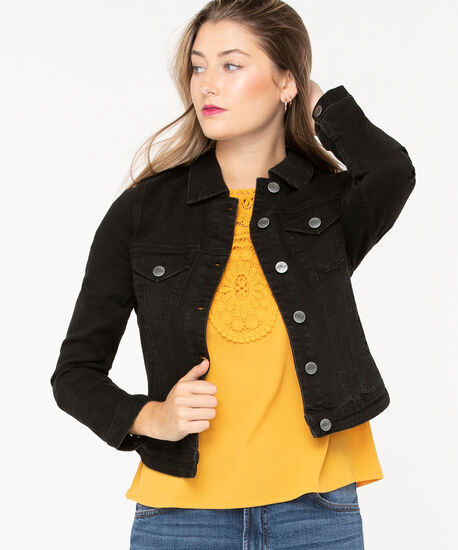 Black Wash Jean Jacket, Black, hi-res