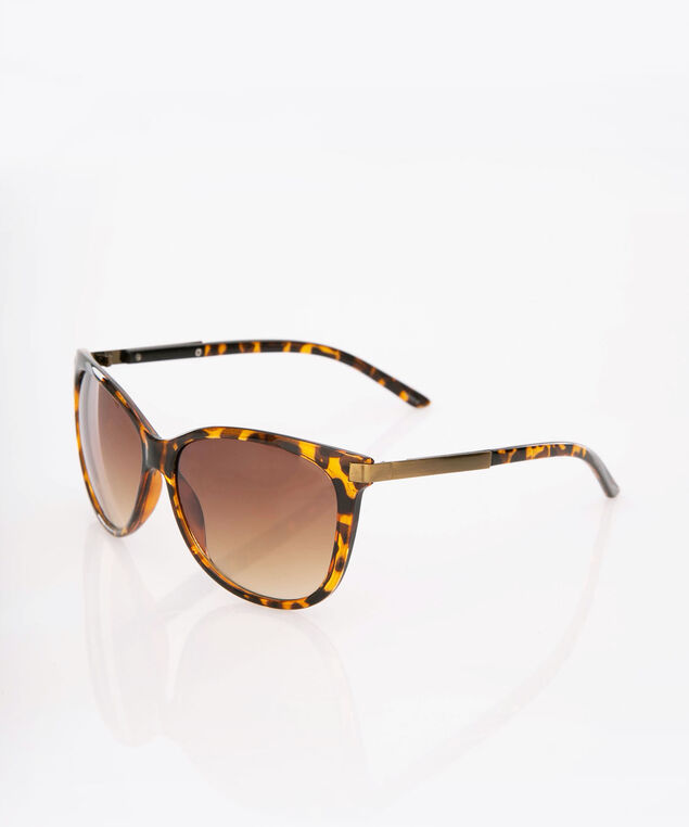 Tortoise Shell Cateye Sunglasses, Brown, hi-res