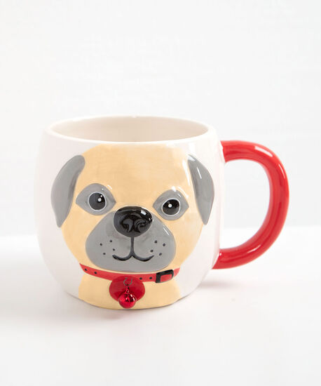 Furever Merry Dog Mug, Crimson/Pearl/Black, hi-res