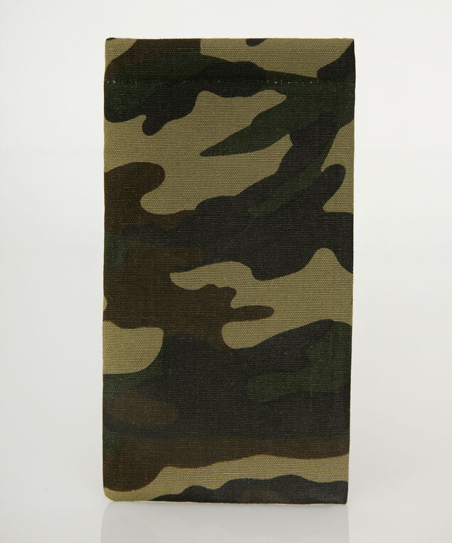 Camo Print Sunglass Case, Olive/Brown/Black, hi-res