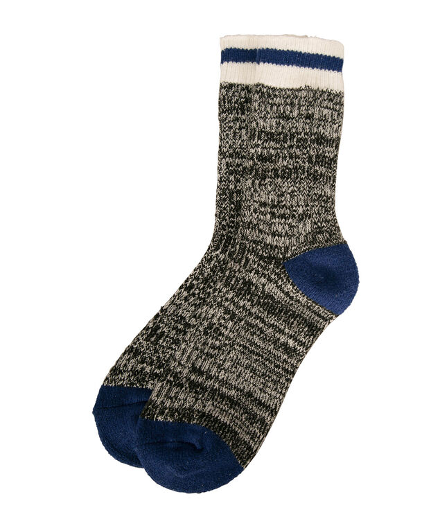 Striped Cabin Sock, Ink Blue/Grey, hi-res