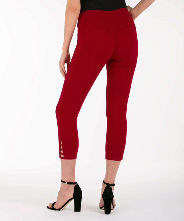 Ladder-Trim Microtwill Crop Pant, Poppy Red, hi-res