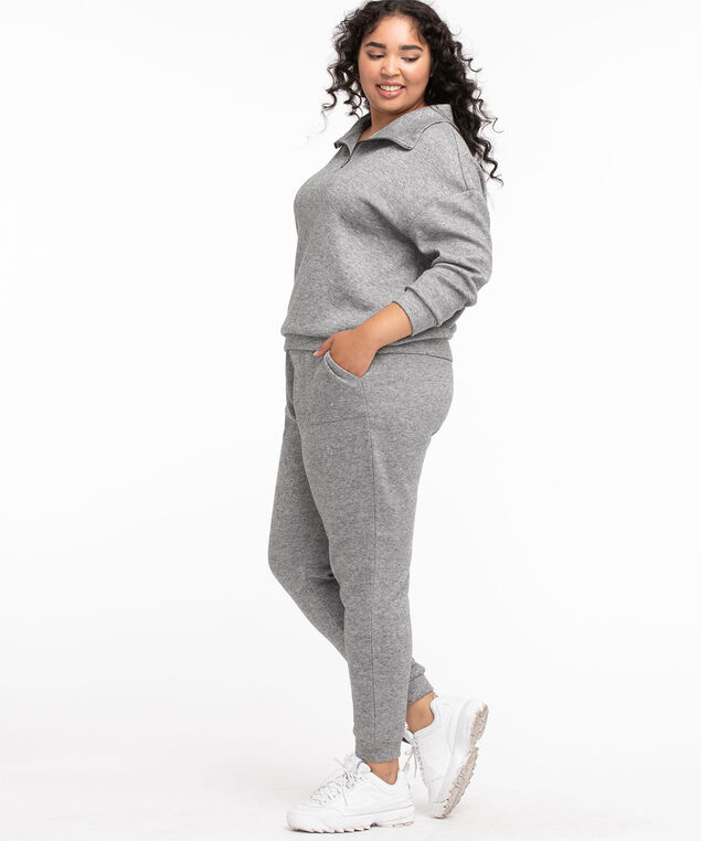Pull On Knit Jogger, Grey Mix