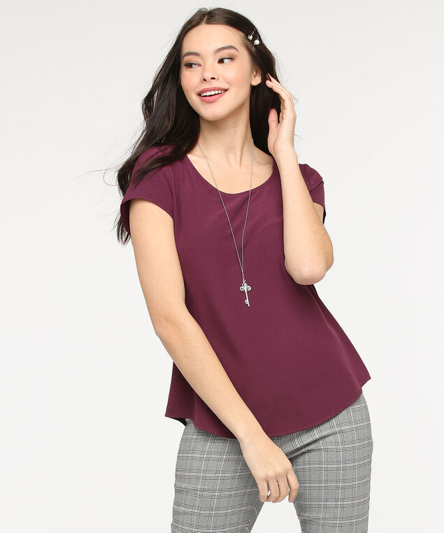 The Everyday Blouse, Fig, hi-res