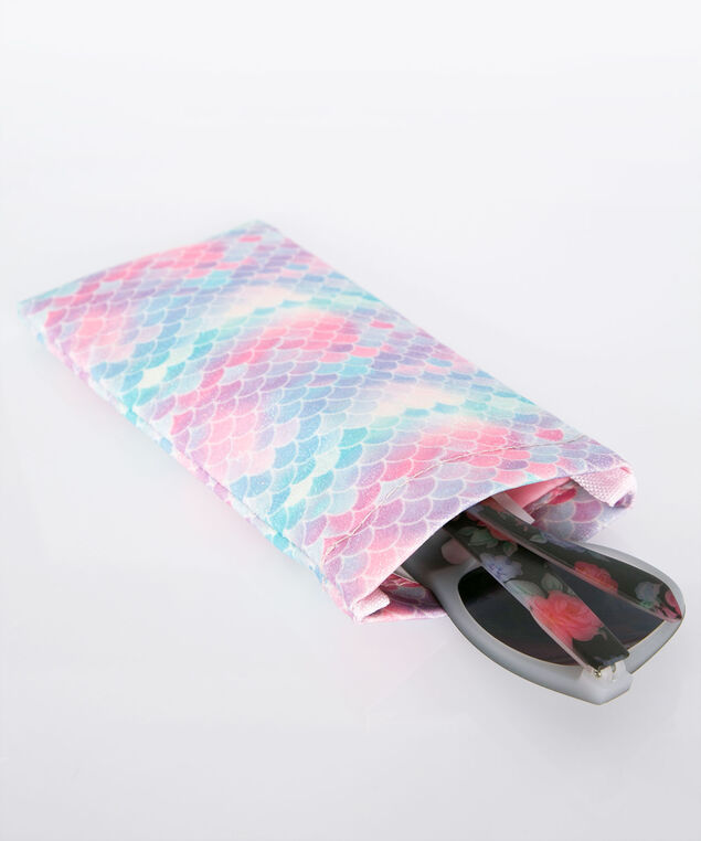 Vacay All Day Sunglass Case, Bright Pink/Tropical Teal/Black, hi-res