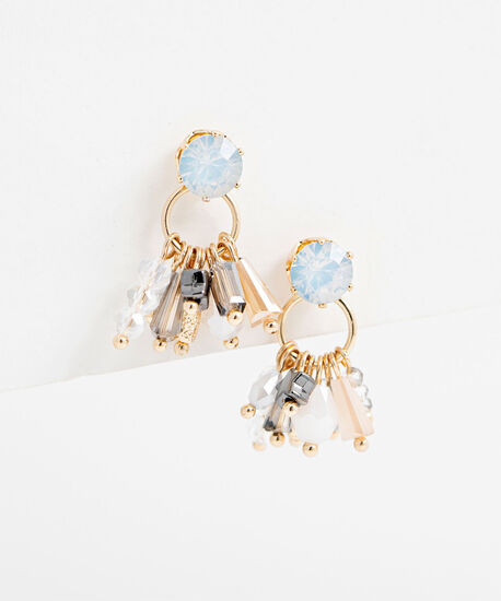 Antique Beaded Earring, Gold, hi-res