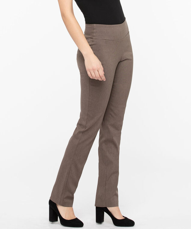 Microtwill Pull On Straight Leg, Mocha, hi-res