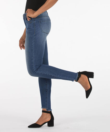 Democracy Step Hem High Rise Ankle Jean, Blue, hi-res