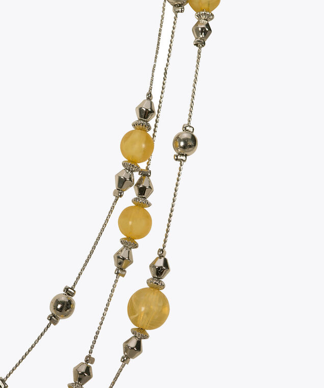 Stationed Bead Necklace Set, Yellow/Rhodium, hi-res