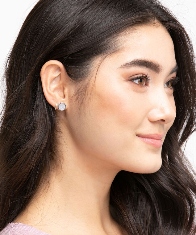 Sparkly Circle Stud Earring 6-Pack, Assorted