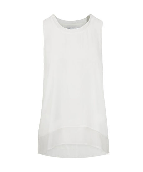 Layered Scoop-Neck Sleeveless Blouse, Pearl, hi-res