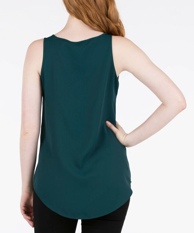 SCOOP NECK WOVEN LAYERING CAMI, Ivy, hi-res