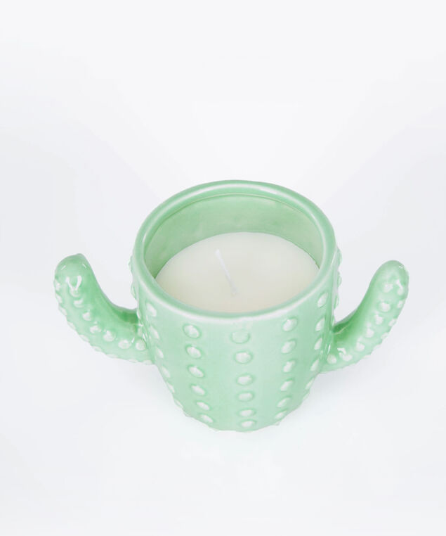 Scented Cactus Candle, Light Sage, hi-res