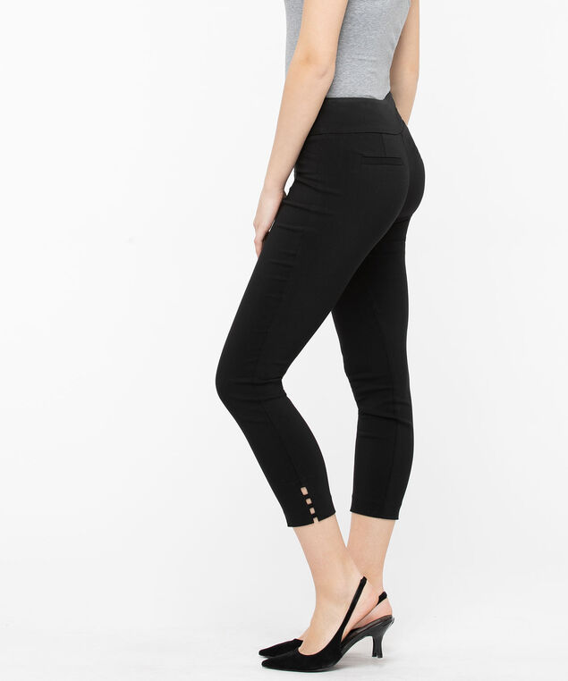 Microtwill Ladder Trim Crop, Black, hi-res