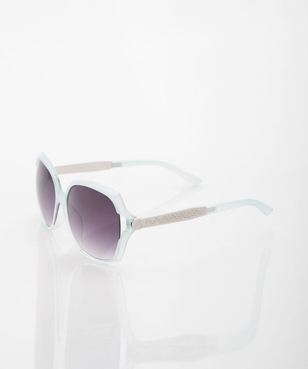 Large Square Cool Mint Sunglasses, Cool Mint/Silver, hi-res