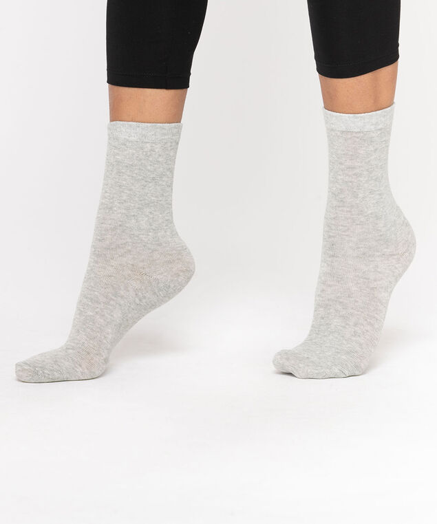 Basic Crew Socks, Light Grey