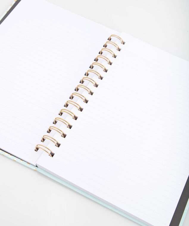 Thankful Everyday Spiral Notebook, Seafoam/Gold, hi-res