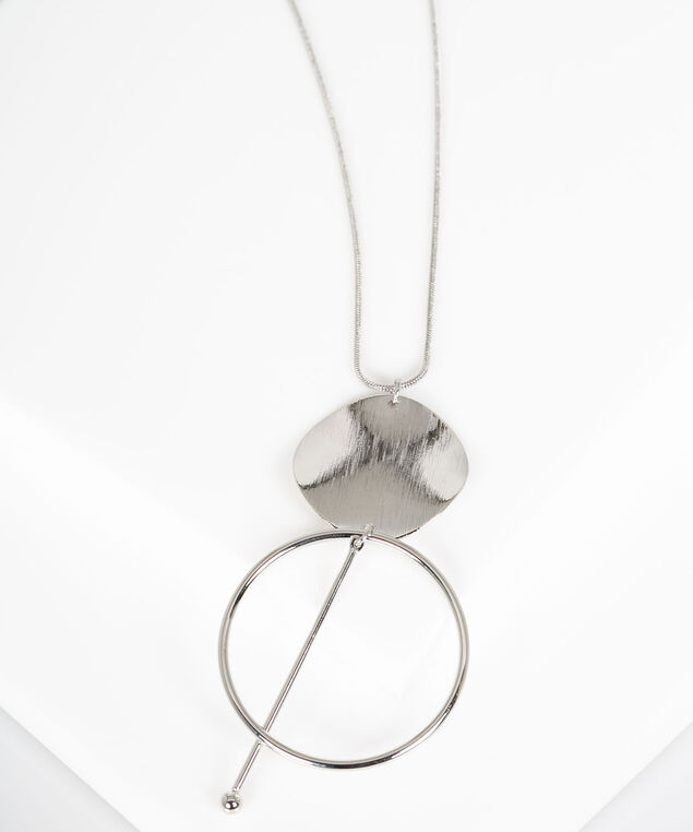 Geo-Shapes Pendant Necklace, Silver, hi-res
