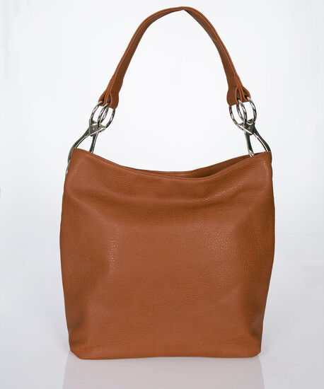 Large Slouch Style Bag, Brown, hi-res