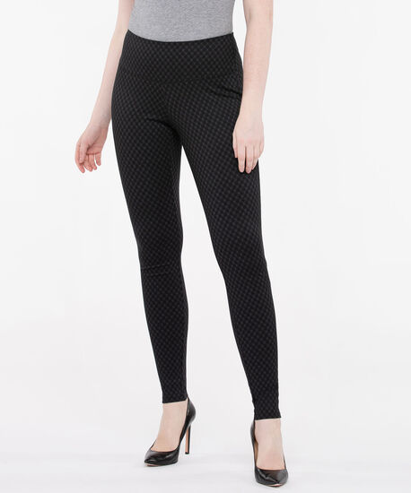 Luxe Ponte Diamond Plaid Legging, Black/Charcoal, hi-res